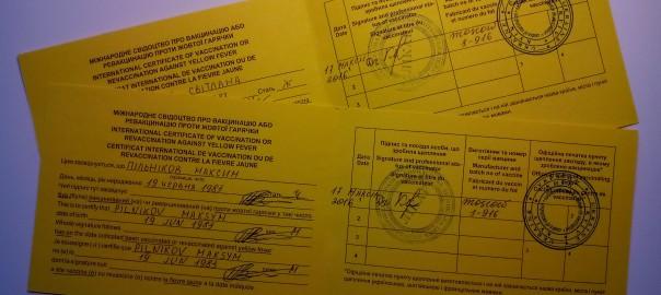 Прививка от жёлтой лихорадки в Киеве